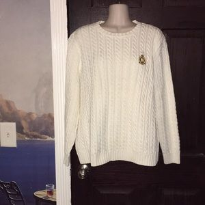 Ralph Lauren Cream Heavy Cable Knit Sweater XL @@